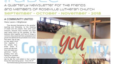 Table Newsletter September–October–November 2018