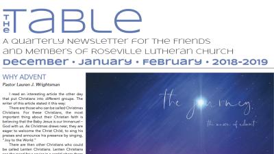 Table Newsletter December–January–February 2018-19