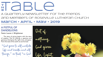 Table Newsletter March–April–May 2019