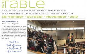 2019 Sept Oct Nov TABLE Newsletter