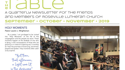 2019 Sept Oct Nov TABLE Newsletter