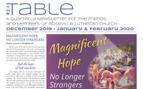 Table Newsletter Dec 2019, Jan-Feb 2020