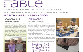 Table Newsletter March April May 2020