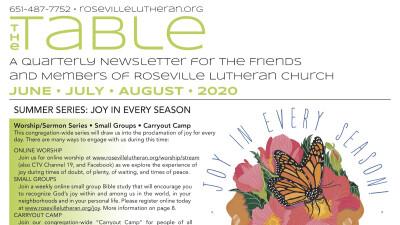 Table Newsletter June July August 2020