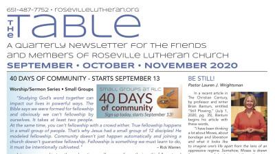 Table Newsletter Sept-Oct-Nov 2020