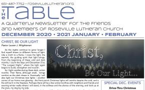 Table Newsletter Dec 2020, Jan, Feb 2021