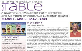 Table Newsletter March-April-May 2021