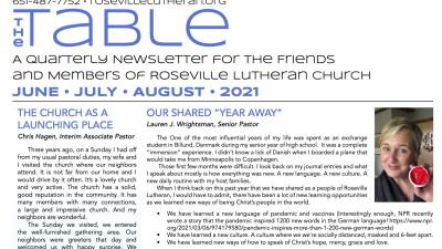 Table Newsletter June-July-August 2021